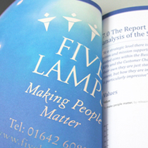 Five Lamps Financial report design and print