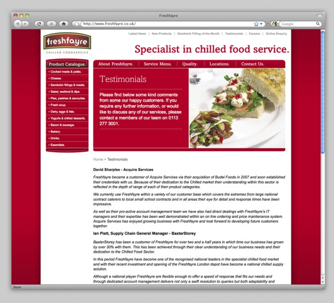 Freshfayre Website Image 3
