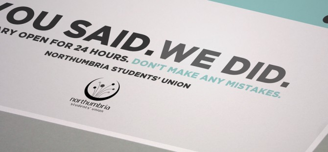 Student Union Internal Awareness campaign
