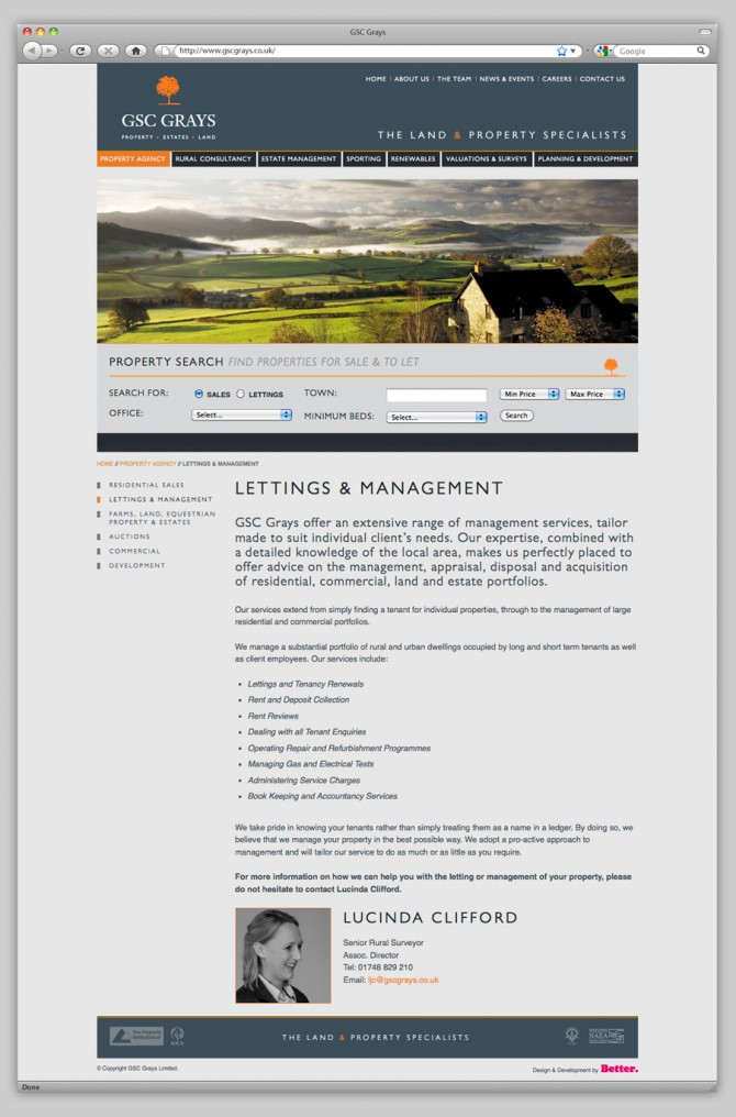 GSC Grays Website - Lettings and Management