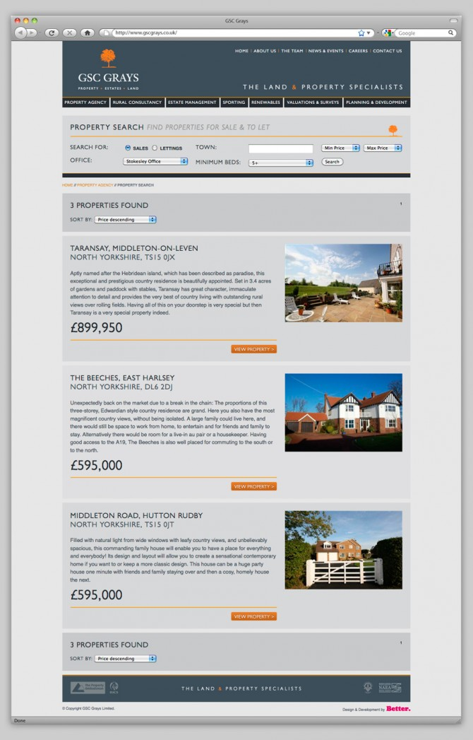 GSC Grays Website - Property Search