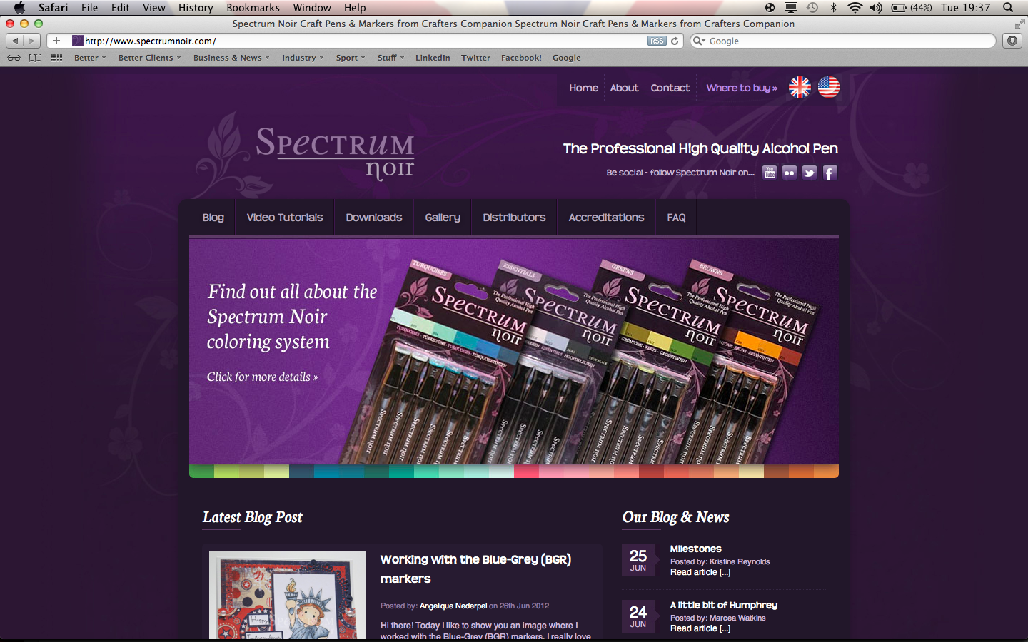 Spectrum Noir Website - www.spectrumnoir.com