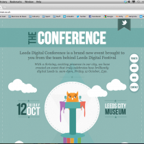 Leeds Digital Conference - Website Screenshot