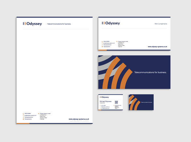Odyssey - Corporate Stationery Design and Production