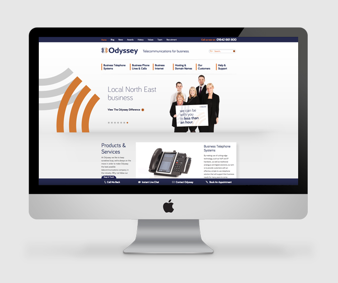 Odyssey - Website, Bespoke CMS, Search Engine Optimisation and Social Media