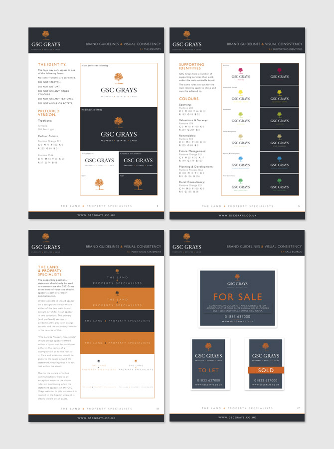 GSC Grays - Brand Development, Brand Identity, Brand Guidelines