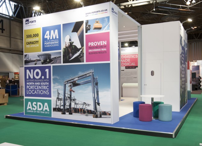 Exhibition Stand Agency : Pd ports multimodal exhibition stand in action better