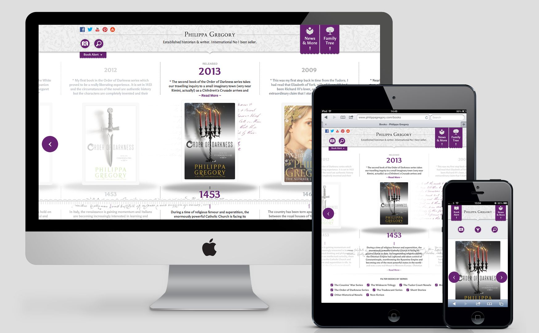 Philippa Gregory Responsive Books featured in Creative Bloq