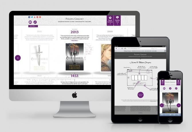 Philippa Gregory Website Design and Development - Responsive Collection