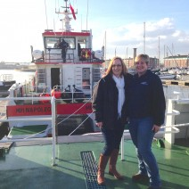 Lesley Robertson and Louise Duffus with new MPI Workboats