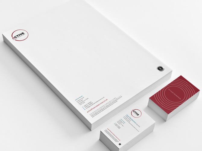 Active Chartered Financial Planners stationery