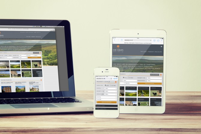 Website design and development by Better brand agency, for GSC Grays
