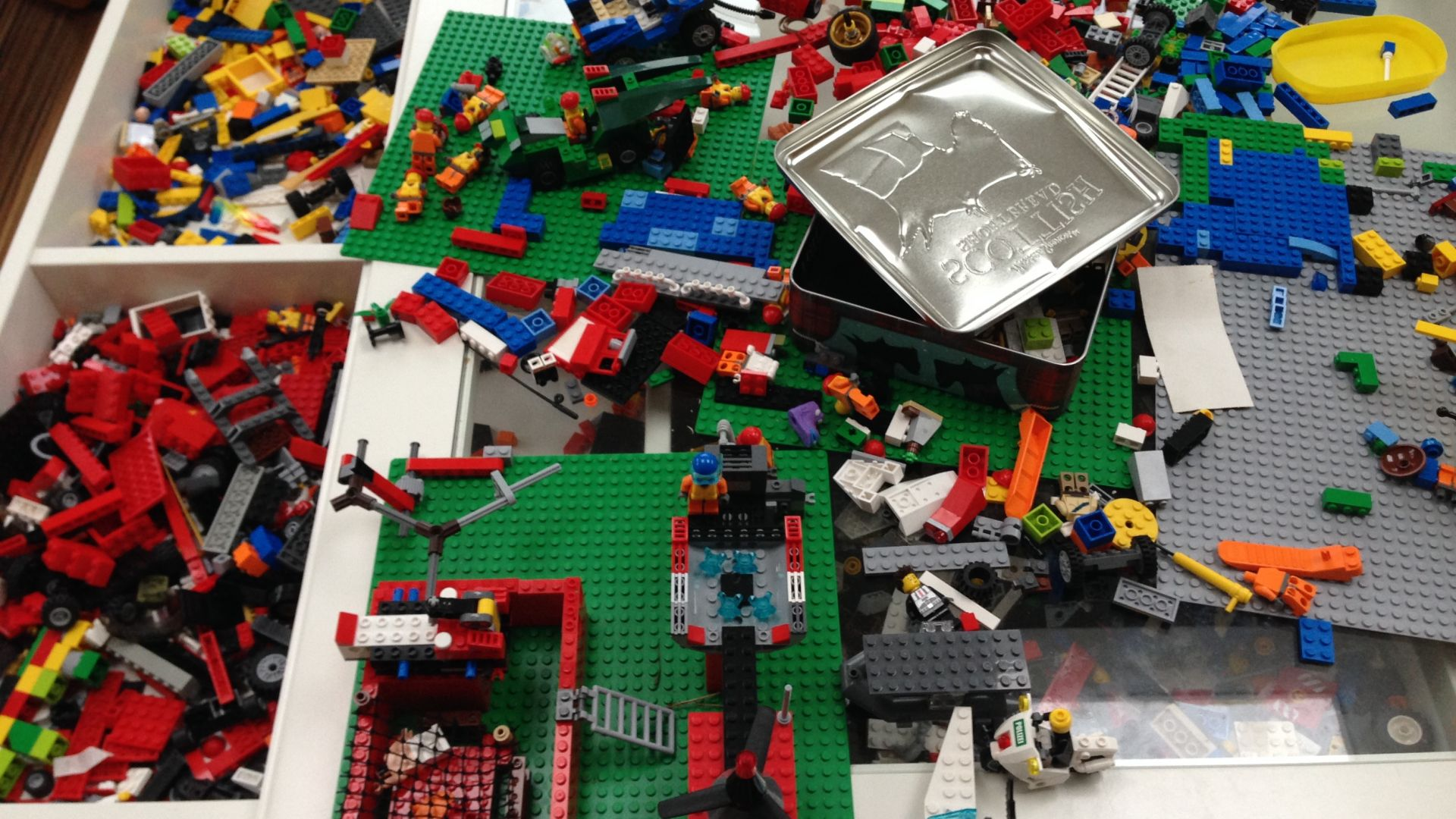 a pile of lego for Lego Movie blog