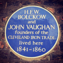 Bolckow and Vaughan plaque on Plenary House