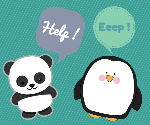 panda and penguin scared of the mobile algorithm