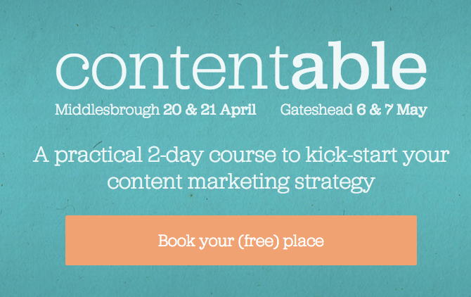 Contentable - A practical 2-day course to kick-start your content marketing strategy