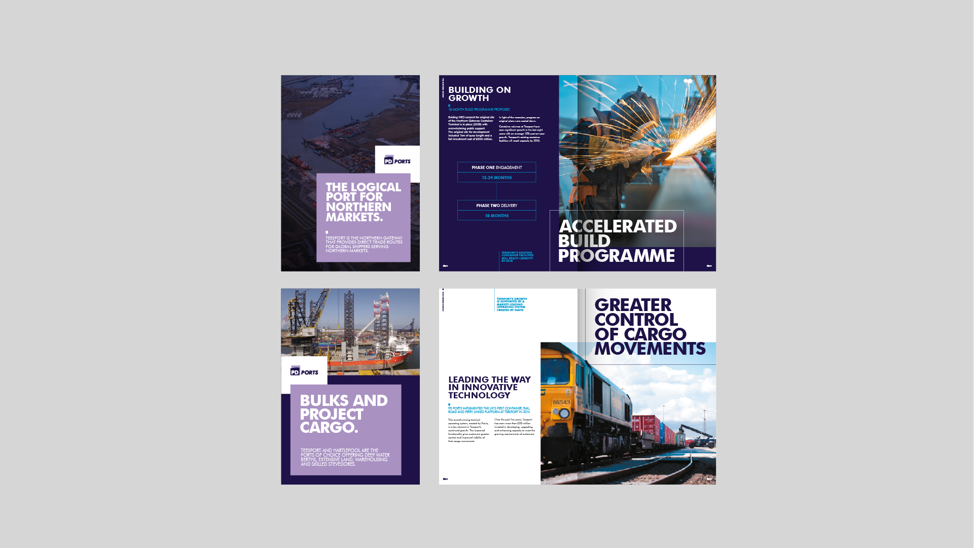 PD Ports - BetterBrandBuilder™ DELIVER - Brochure Layouts