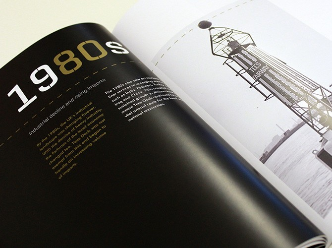 PD Ports Tees Dock 50th Anniversary Identity and Brochure Design