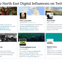Lissted's Top North East Digital Community Influencers.