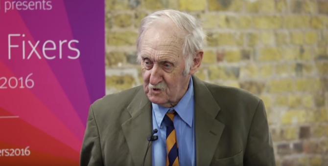 Trevor Baylis at D&AD 2016