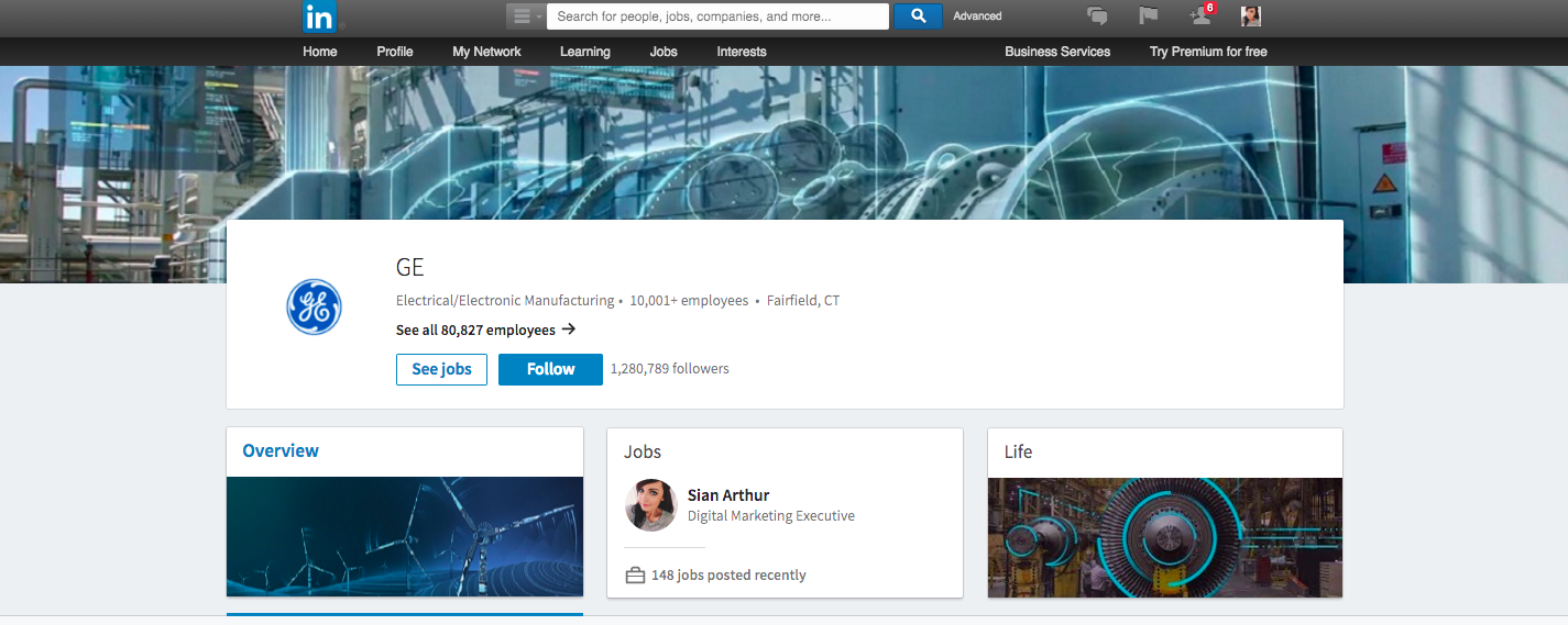 The Long Awaited LinkedIn Company Pages Revamp screen