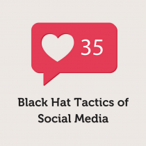 Black hat tactics of social media graphic.