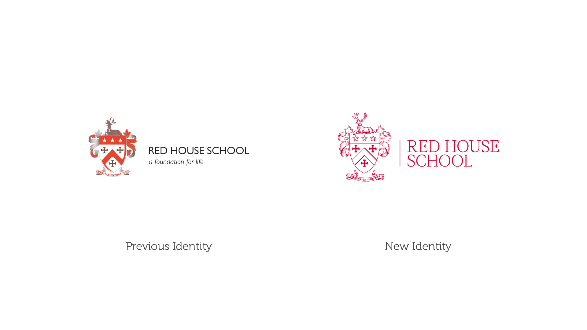 BetterBrandBuilder™ - Red House School Brand Before and After.