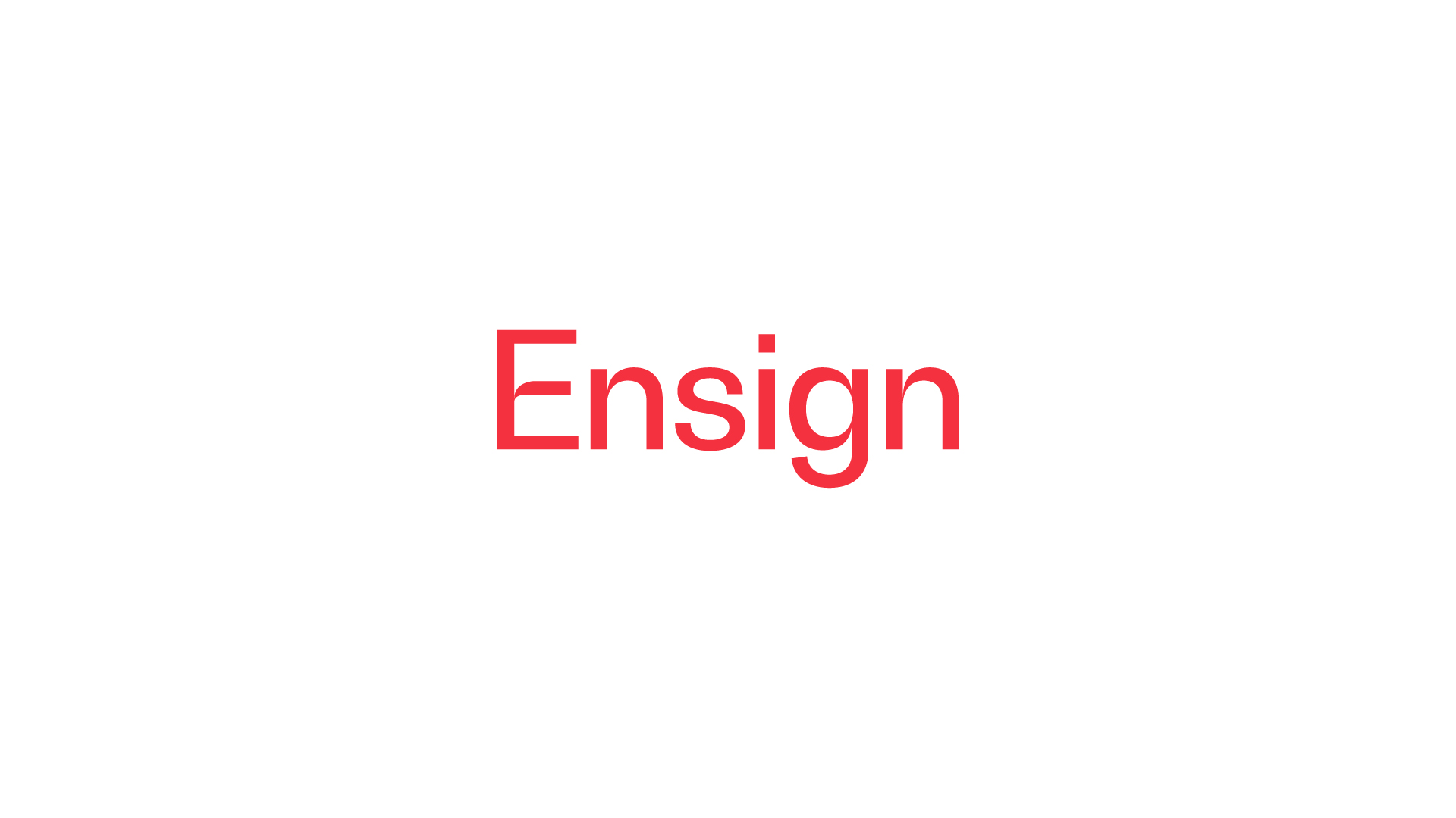 Ensign Project Brand Agency Design Marketing Web